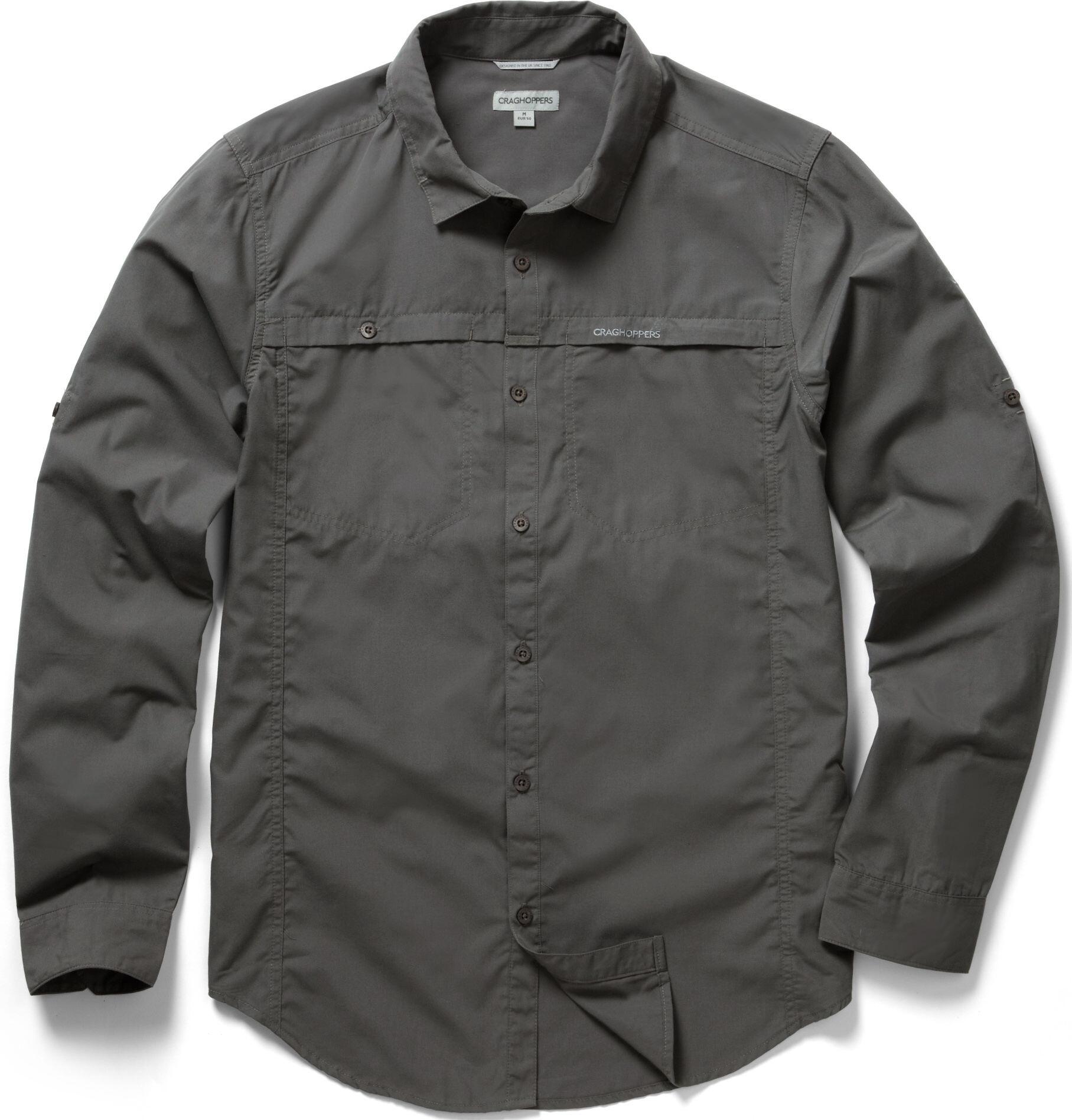 0edaef64769bc Craghoppers Kiwi Trek - T-shirt manches longues Homme - gris sur CAMPZ !